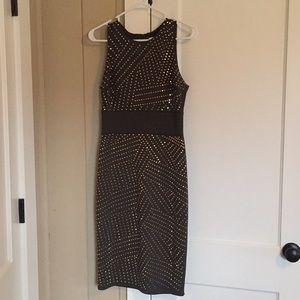 Olive green w/gold studs Dress